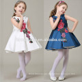 Estilos chinos Niños niñas bordado Hermosos 2 colores disponibles Patrones vestido de niña de las flores