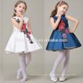 Китайские Стили Дети Девушки Вышитые Красивые 2 Цвета Девушки Цветочные Узоры Платье