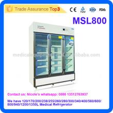 2016 El refrigerador médico más nuevo de la farmacia del laboratorio del diseño MSL800i con 2-8 grados