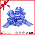 Fancy Decorative Silver Christmas Ribbon Bow