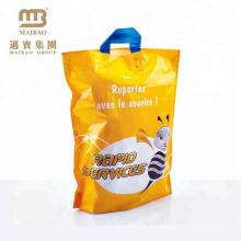 As melhores sacolas plásticas de compra duráveis & reusáveis do punho de Flexiloop da cópia com punhos