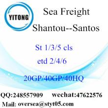 Sán đầu cảng biển vận chuyển hàng hóa vận chuyển đến Santos