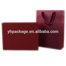Оптовая логотип 2018 печатных recyclable картон роскошная фантазия красная сумка