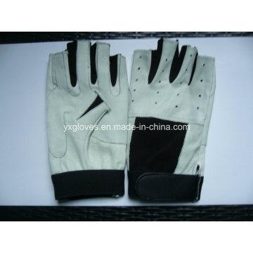 Half Finger Glove-Racing Glove-Bicycle Glove-Work Glove-Leather Glove