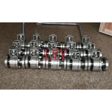 Valves à tournant sphérique flottantes en acier forgées par 3PC avec l'actionneur pneumatique
