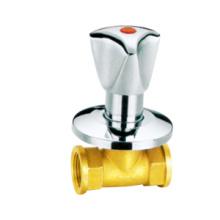 Válvula de parada de latón pn16, válvula de parada de latón J4006, precio bajo con gran precio, níquel / manija cromada