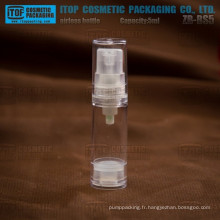 ZB-BS5 5ml clair naturel monocouche pour produits petit airless flacon 5ml