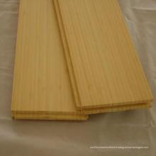 Laque UV de plancher en bambou solide verticale naturelle lisse