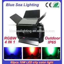 High power IP65 60pcs 10w 4 in 1 dmx rgbw outdoor led city color