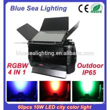 Высокая мощность IP65 60pcs 10w 4 в 1 дмкс rgbw открытый светодиодный цвет города