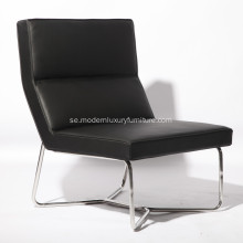 X Metal Tubular Base Läder Armless Chair