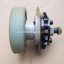 Hitachi Escalator Drive Assembly with Wheel 141mm 158mm