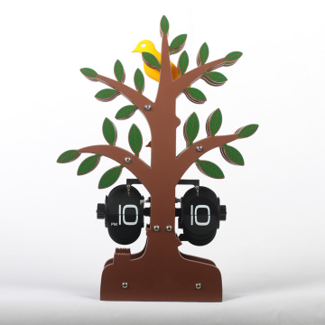 Horloge de bureau Flip Cartoon Tree