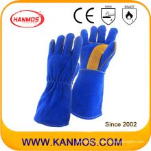 Перчатки для сварки из натуральной кожи с разделкой кожи (11115)