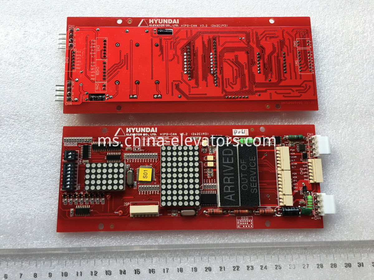 Hyundai HIPD-CAN V3.2 / 262C193 / Red PCB / Marine Elevators