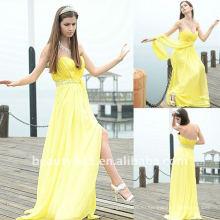Astergarden реальные фото без бретелек шифон желтый боковой шов сладкий дизайн платье платье AS118