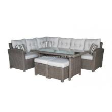 Сад плетеная причинная Lounge диван установить открытый ротанга Мебель