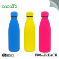 Cola Water Bottle With Soft Touch Rubber Painting
