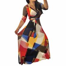 Мода последние дизайн фабрика продажа секс печатных мода платье