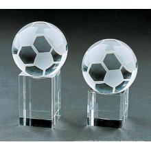 Décoration de football de football en verre avec une forme vivante