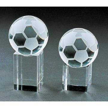 Football Glass Football Decoration with Vivid Shape