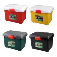 Recipiente de caixa de armazenamento de plástico colorido multifuncional para casa / carro