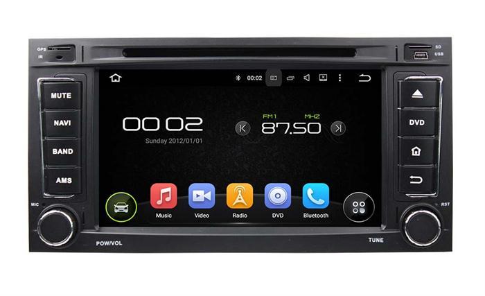 Capacitive multi-touch screen car gps navigation for TOUAREGMULTIVAN
