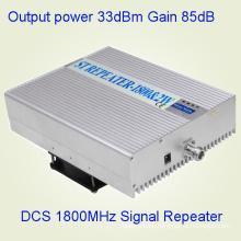 Repetidor al aire libre de 2watt 33dBm Telecom industrial 1800MHz Aumentador de la señal del teléfono móvil del G / M