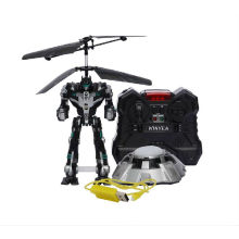 Remote Control Robot Fighting Robot New Air-Robot Combat 2.5CH RC Helicopter VS UFO RC Robot with Sounds&Colorful Lights