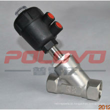 Válvula de ângulo de acionamento pneumático de rosca