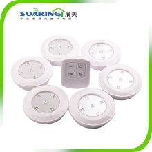 Kabelloser batteriebetriebener LED-Stick-on-Hahn Puck Cabinet Light