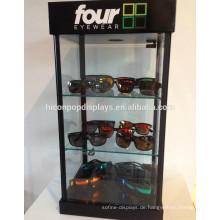 Eyewear Retail Store Holz Optische Glas Sonnenbrillen Großhandel Möbel Verschließbare Brillen Display Schränke