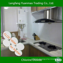 Desinfectante para el hogar Tableta de dióxido de cloro para la desinfección de la cocina