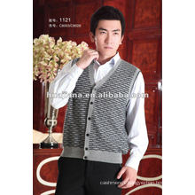 Luxury men's cashmere cardigan sweater vest