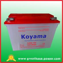 Batterie au plomb-acide tricycle électrique de trois roues 150ah, 12V