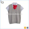 Camiseta con el uniforme superior hecho punto de la escuela para los niños