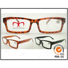 Novo design unisex leitura óculos com moldura quadrada (zx006)