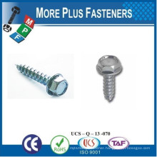 Made in Taiwan DIN 6928 Hex Washer Head Tapping DIN 7500 Self Forming Rolling DIN 7982 Cross Recess Countersunk Tapping Screw
