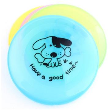 Gros pliage en plastique Cartoon Dog Disc impression en plastique pour animaux de compagnie Frisbee