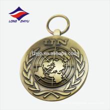 Fábrica de venda direta 3D lembrança de liga de zinco medalha personalizado