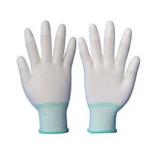 13 Gauge Nylon gestrickte Safey Handschuhe mit PU auf Top Finger beschichtet