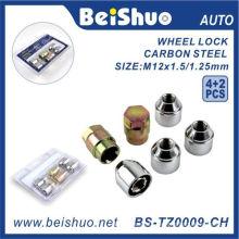 4+2PCS/Set Torx Wheel Nut with Zinc Plated