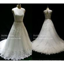 Vestidos de noiva de rendas de designer vestido de noiva vestido de baile vestidos de moda mais recentes vestidos de noiva de cinto de cinto pesado com cauda longa