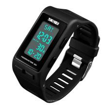 SKMEI 1363 New Fashion Sport  Waterproof  pedometer watches Led Digital wristband Multifunction Wristwatches