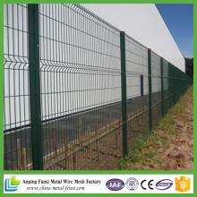 Ao ar livre segurança jardim painel de cercas de arame curvada cerca de malha