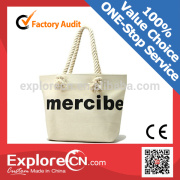 Fashion cotton canvas tote bag for beach and shopping                                                     Quality Assured