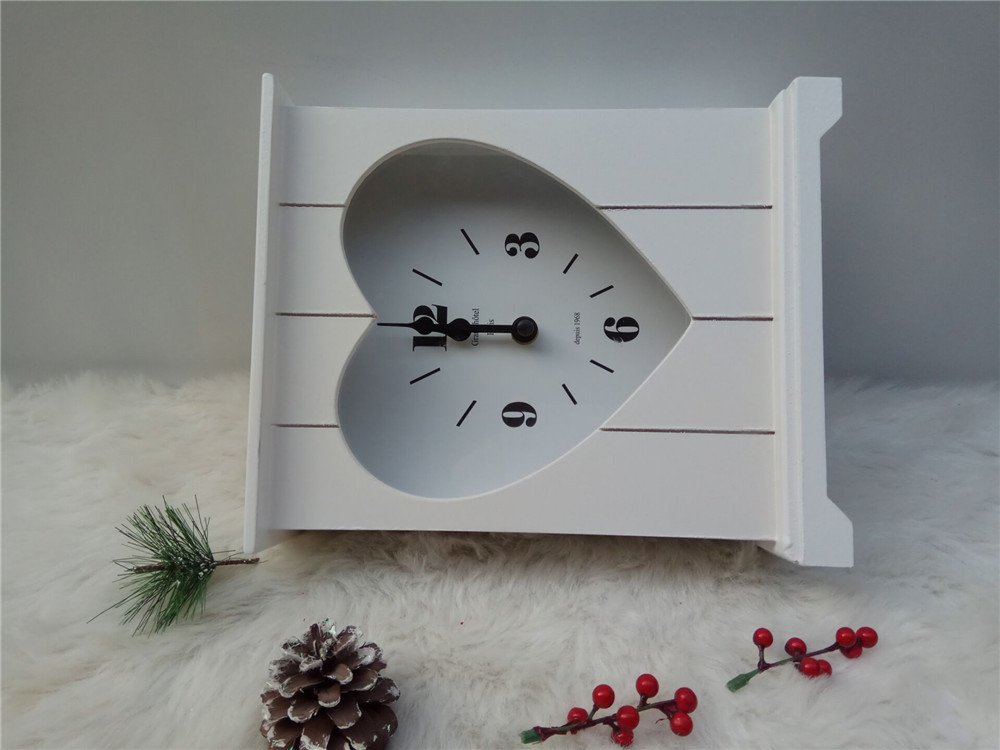 white hih quality wooden clock
