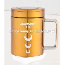 Coupe de tasse en céramique produit à la mode promotionnel double paroi en acier inoxydable sublimation personnalisé