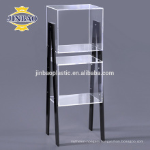 Jinbao A4 40X60 cm new customize clear crystal acrylic newspaper display rack
