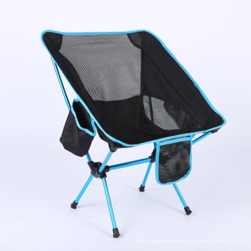 Outdoor Aluminium Frame Compact Ultralight Folding Beach Chair Reclining Portable Camping Chair